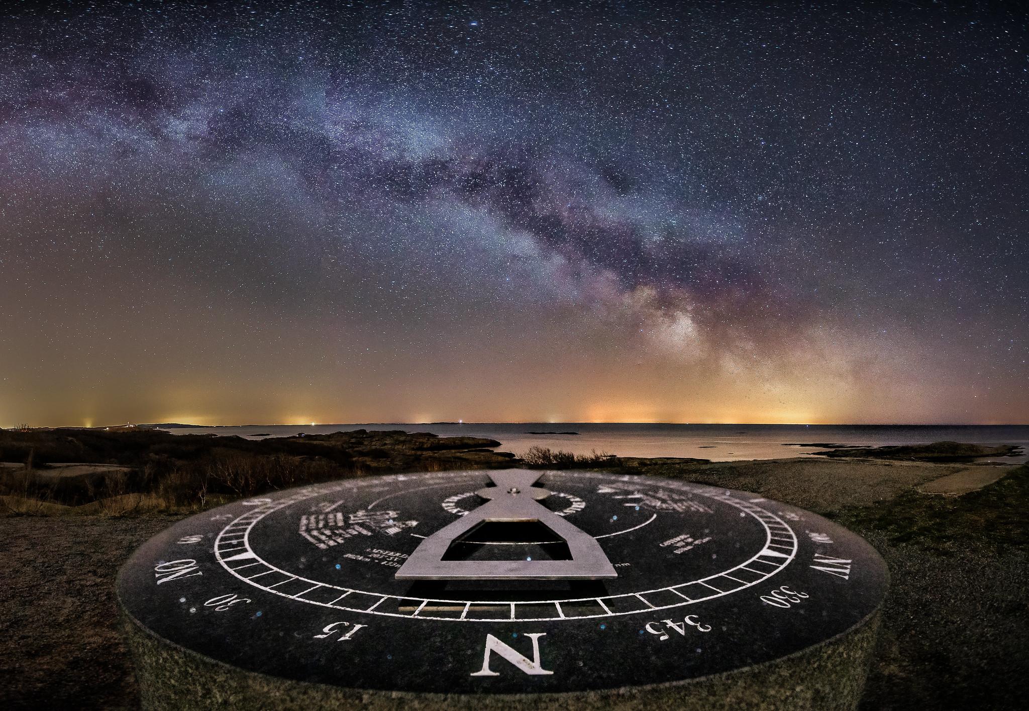 Melkeveien over soluret på Rakke